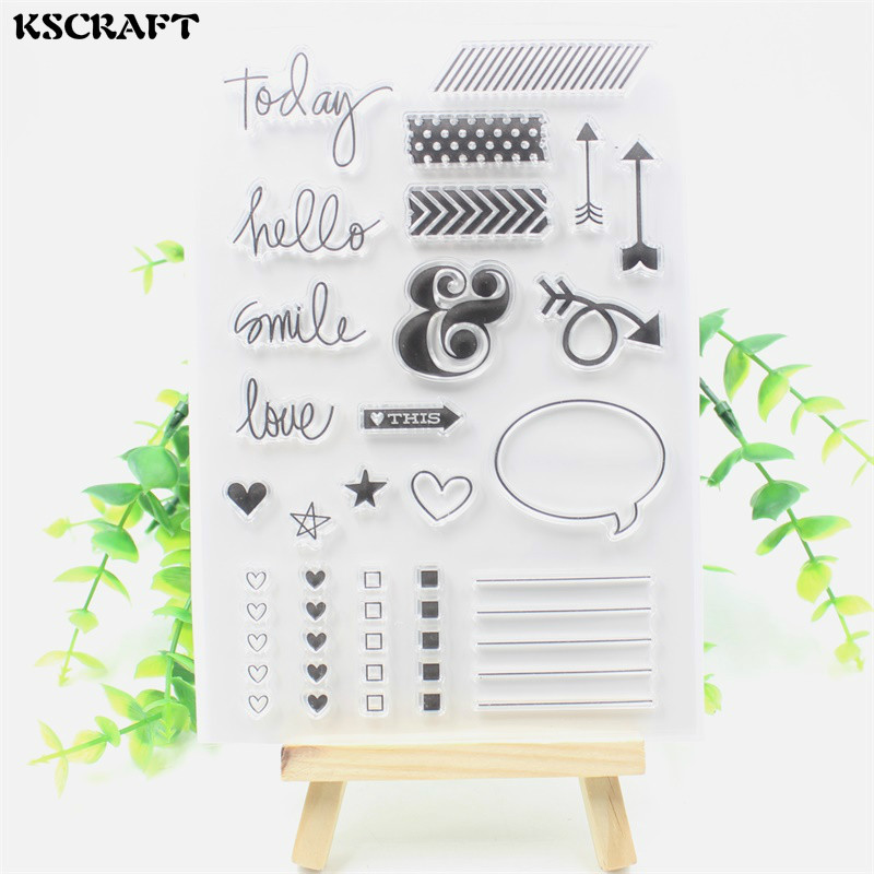 KSCRAFT Smile Transparent Clear Silicone Stamp/Seal for DIY scrapbooking/photo album Decorative clear stamp sheets lovely animals transparent clear silicone stamp seal for diy scrapbooking photo album decorative clear stamp sheets