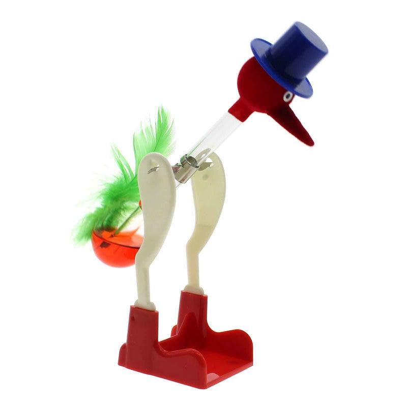Chic Tasarım Kırmızı Sıvı Cam Içme Şanslı Kuş Bobbing Masası Dekor Güzel Hediye