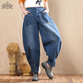 Hot! Plus Size Jeans Women Big Pocket Fashion Casual Loose Denim Pants Trousers 2017 New 3 Styles Ropa Mujer