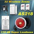 Nueva Urgrade ajuste Fácil fácil de manejar Sistema de Alarma Wireless Home Seguridad Antirrobo de Super Loud Timbre/Función de Emergencia