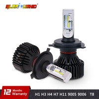 One Pair H7 Led Car Light Bulb H4 H11 9005 9006 H13 9007 LED Headlight 60W