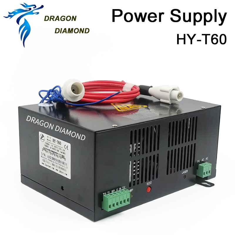 HY-T60 110V 220V 60W Co2 Laser Power Supply / Laser Machine Power Supply for laser cutting and engraving machine stabilivolt 150w co2 laser power supply 220v co2 laser power source for co2 laser engraving and cutting machine