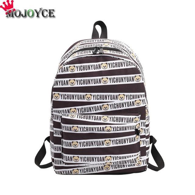 MOJOYCE Backpack Striped Women Bagpack Teenagers Backpacks For Teenage Teen  Girls Youth Feminine Backpack Girl Mochila b4068abecfb9e