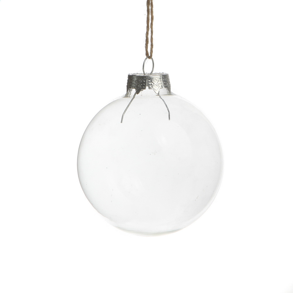 Glass xmas ornaments - Free Shipping Christmas Ornaments 80mm Clear Glass Balls With Silver Top Wedding Memory Balls 80 Pack