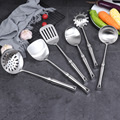 GLANYOMI 304 инструменты для приготовления пищи из нержавеющей стали/Ложка для супа  лопата с прорезями  шпатель  ситечко для макаронных изделий/...