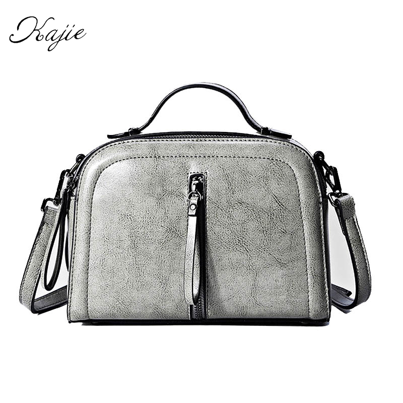 Kajie Famous Brands 2018 Genuine Leather Women Messenger Bags Female Luxury Designer Handbags High Quality Bolsos Sac A Main