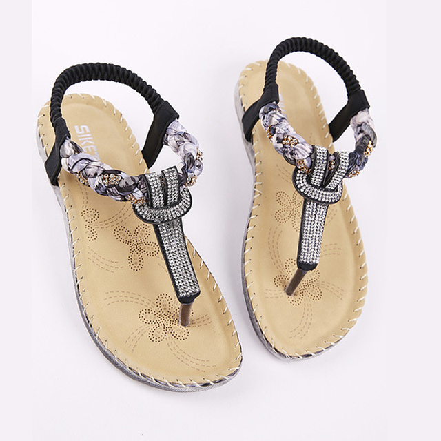 Women Sandals Bohemia Women Casual Shoes Sexy Beach Summer Girls Flip Flops Gladiator Fashion Cute Women Flats Sandals ABT538