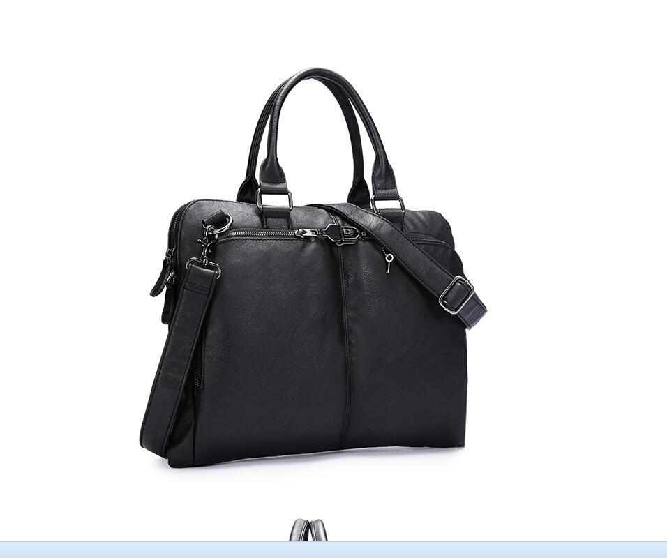 ФОТО 2017 New Genuine PU Bag Casual Men Handbags Cowhide Men Crossbody Bag Men's Travel Bags Laptop Briefcase Bag for Man S60