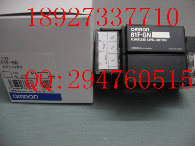 [ZOB] Supply of new original omron Omron level switch 61F-GN AC110 / 220V [zob] new original omron omron beam photoelectric switch e3jk tr12 c 2m 2pcs lot