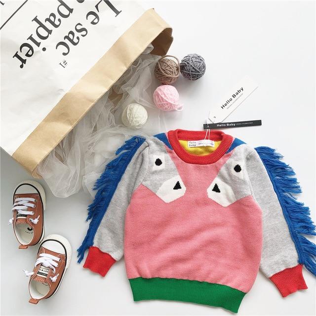 4bd19bdff new winter unicorn knit sweater for boys girls children s sweater ...