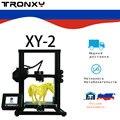 Tronxy Новый XY-2 3D принтер большой размер печати FDM i3 принтер V-slot сенсорный экран продолжением печати горячей кровати Российской Федерации кора...