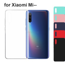 Clear TPU Soft Silicone Case For Xiaomi Mi 9 SE A1 A2 6X Note Mix 3 6 Max 3 Red Black Matte Scrub Cover Mi 8 Lite Funda Coque(China)