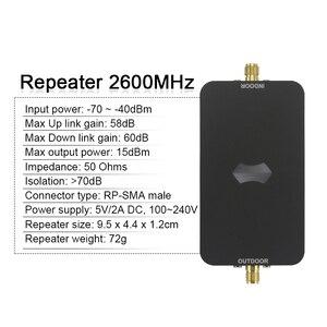 Image 2 - Новый мини 4G LTE 2600 МГц ретранслятор сигнала 7 ALC 60 дБ усиление 4G LTE усилитель сигнала мобильного телефона 4G LTE 2600 МГц усилитель полный комплект