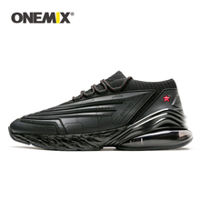 Купить с кэшбэком ONEMIX Sneakers For Men Running Shoes For Women Leather Shoes Shock Absorption Cushion Soft Energy Midsole Outdoor jogging shoes
