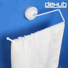 Dehub Suction Cup Toilet Paper Holder Tissue Box Kitchen Bathroom Storage Rack Roll Towel