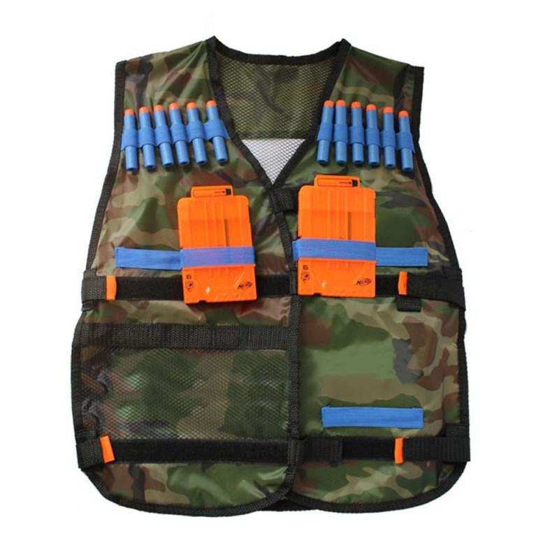 2018 New Tactical Vest Kit Tactical Vest Adjustable With Storage Pockets Fit For Nerf N-Strike Elite Team Hot