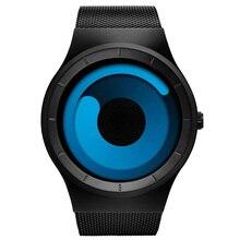 2020 SINOBI Luxury Sport นาฬิกาข้อมือชายแฟชั่นควอตซ์สแตนเลสตาข่าย Relogio Masculino
