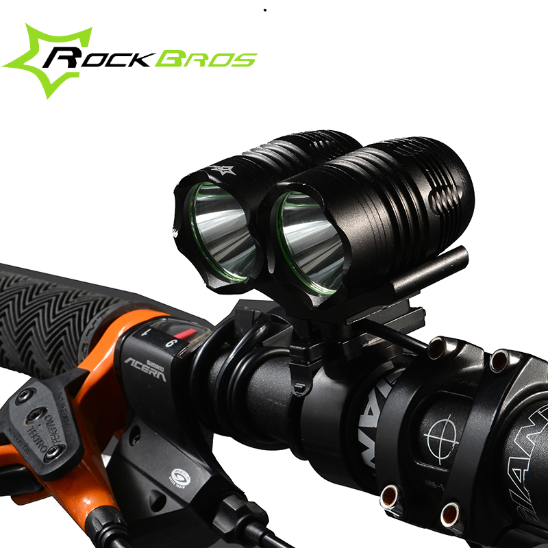 ФОТО ROCKBROS Rechargeable LED MTB Bicycle Light T6 CREE XM-L LED 1200LM 1800LM 2700 Lumens Cycling Light Bicycle Front Light Lamp