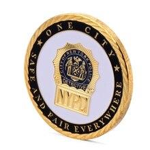Нью-Йоркский отдел полиции позолоченная Памятная коллекция монет