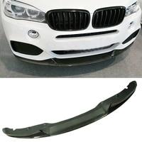 P Style Carbon fiber Front Bumper Lip Spoiler Fit For BMW F15 X5 M Sport