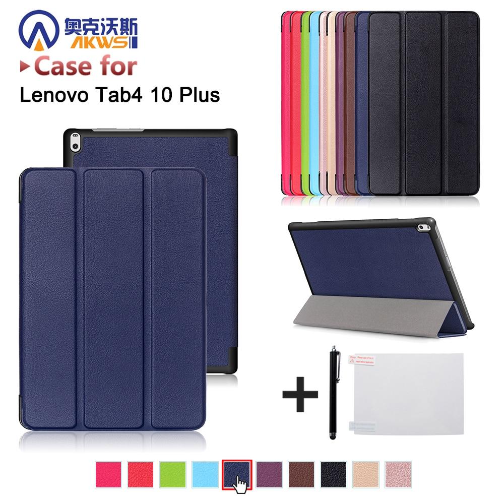 Folio Stand Leather Case For Lenovo TAB 4 10 Plus TB-X704N TB-X704F Tab