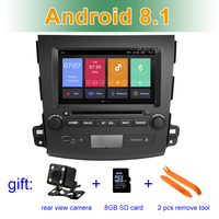 Android 8.1 Car DVD Player GPS for Mitsubishi Outlander 2007 2012 with wifi BT Stereo Radio