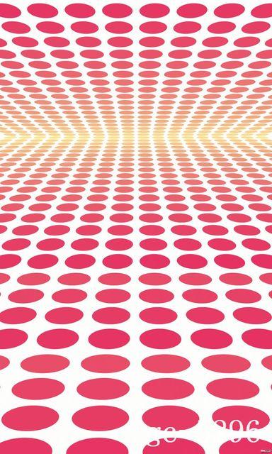5x10ft Coperta Rosa Bianco Pois Rosso Pavimento Parete