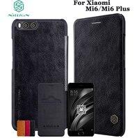Nillkin Qin Book Flip Leather Case Cover For Xiaomi Mi6 Plus Genuine Real Coque Capinha Sleep