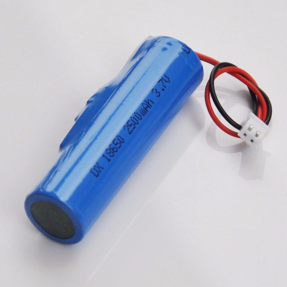 Batería recargable de ión-litio para altavoz de audio, luz led de emergencia, 1-4 Uds., 3,7 V, 18650 mah, XH 2500, enchufe