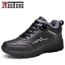Super Warm Men's Winter Casual Shoes Waterproof Men Sneakers Leisure Plush fur Winter Shoes Men size 39-44