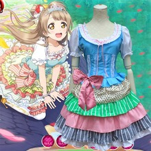 Аниме Косплей Lovelive Hoshizora Рин Косплей Костюм Милые Девушки Хэллоуин Платье Onesize Кафе Принцесса Слоистых Платье