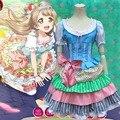 Anime Cosplay Lovelive Cosplay Rin Hoshizora Traje Chicas Lindas de Halloween Vestido Onesize Cafetería Princesa Vestido Acodado