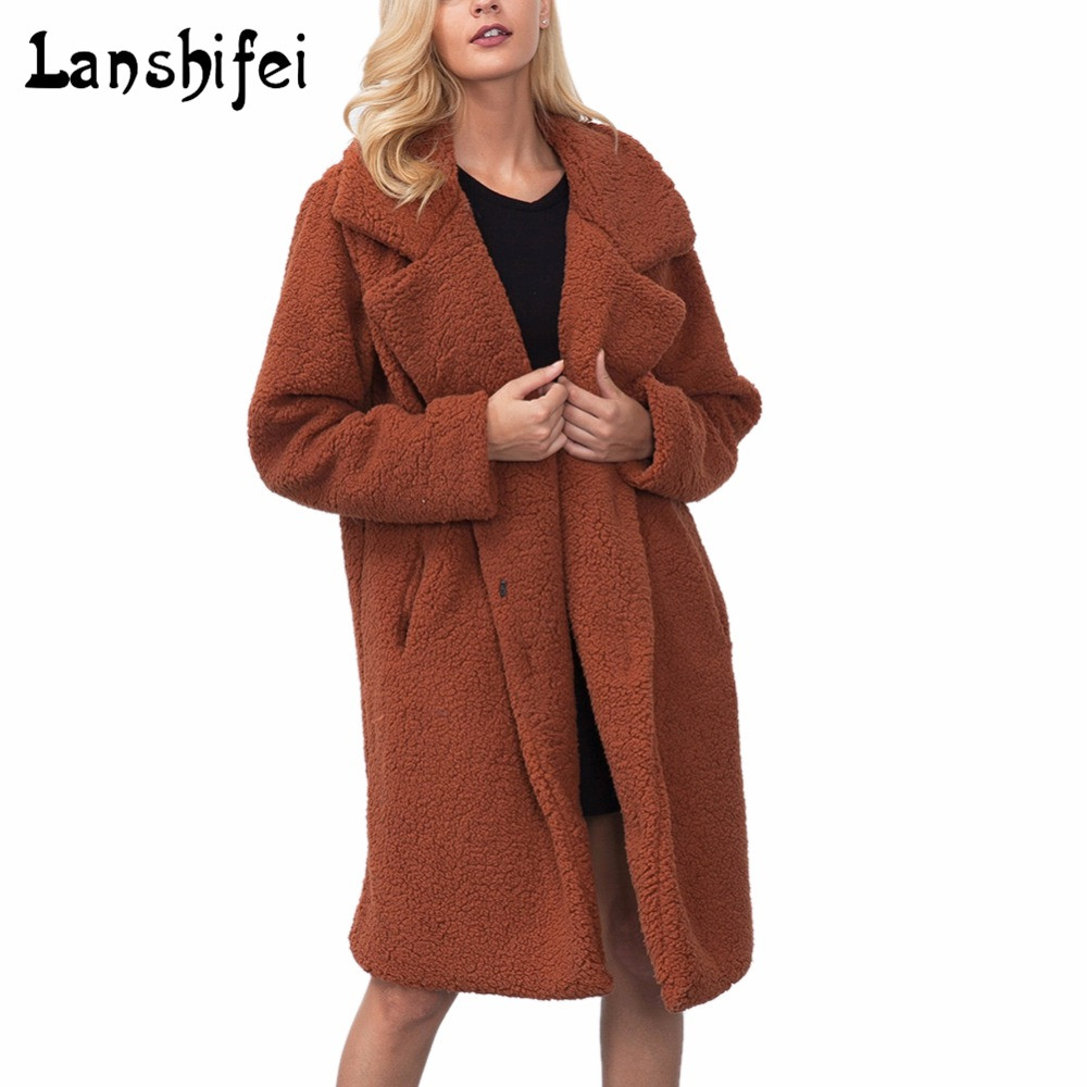 Fashion Women Long Solid Coat Cotton Cashmere Revers Style Black Army Green Camel Coffee 2017 New Wool Coat for Autumn Winter ada 14 revers