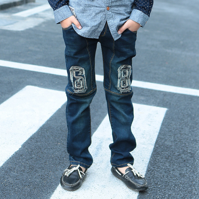 New Spring Jeans Boys Baby Boys Jeans Skinny Pants Denim Children Trousers for Kids Children Jeans Kids Ripped Jeans