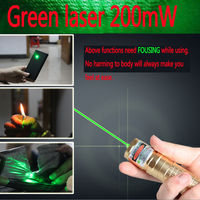Military High Power 532nm 2000mw Laser Pointer Green Light Laser Pen Burning Beam With 5 Heads