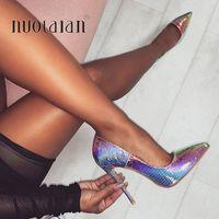 Женская обувь на шпильке 12 см/10 см/8 см; женские туфли-лодочки на высоком каблуке; подушечки для маникюра; кожаные женские туфли с острым носк...