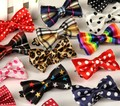 Children tie polyester silk casual ultra narrow spot printing cartoon little baby bow tie factory