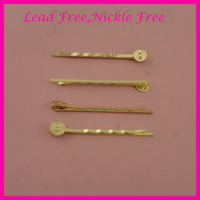 50 шт. 2,0 мм* 5,5 см обычный металл Бобби Pin слайд заколки для волос с 8 склеивания колодки на никель бесплатно и свинца, сделка для оптом