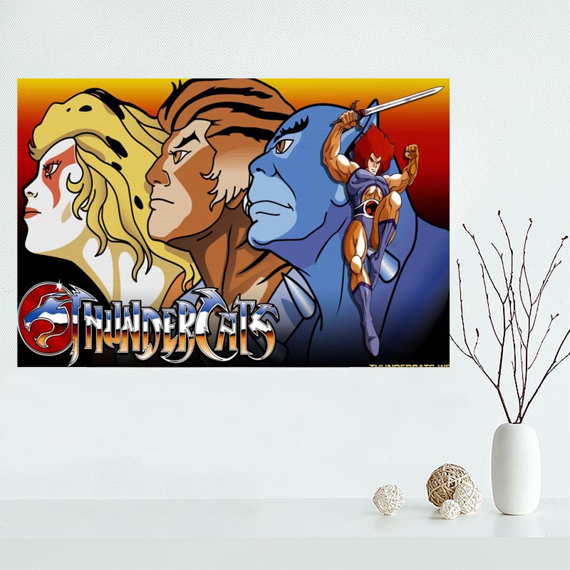 Painting-Poster Fabric Wall Thundercats Custom Classic Living-Room Home-Decor Fashion