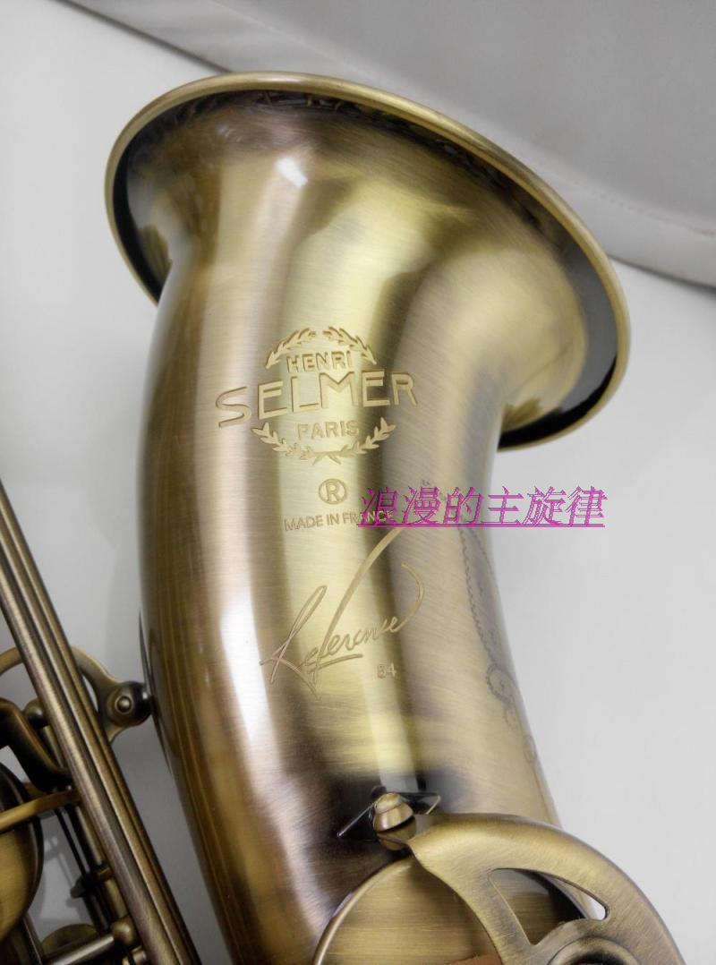 tenor saxophone instrument Hot selling SELMER 54 Tenor saxophone / pipe B flat double reinforcement type antique copper SAX tenor sax high quality musical instrument selmer tenor saxophone antique copper perfect quality free shipment saxophone