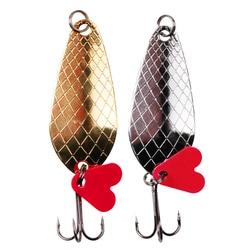2 шт./лот приманка-ложка для рыбной ловли, 9 г, набор Блесен, жесткая приманка, Спиннер, рыболовная снасть, искусственный воблер, снасти, приман...