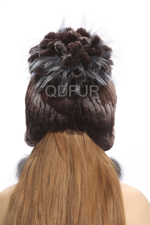 bbd0c15172b Handmade Winter Women s Genuine Real Fox Fur Bomber Hats Caps Lady Warm  Earcap Female Headgear QD80237-in Bomber Hats from Apparel Accessories on  ...
