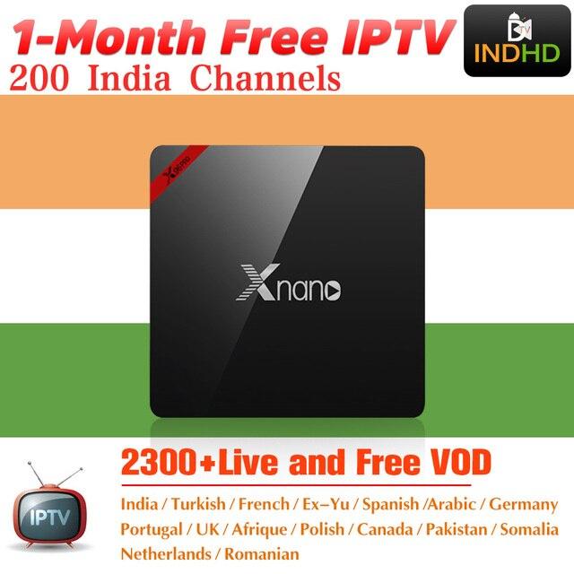 Hindistan İtalya IPTV Xnano 1 ay Ücretsiz IP TV Kanada Arapça IPTV Abonelik android TV kutusu Afrika Türkiye IPTV Hint İtalyan IP TV