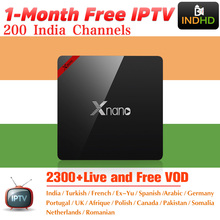 India Italië IPTV Xnano 1 maand Gratis IP TV Canada Arabisch IPTV Abonnement Android TV Box Afrika Turkije IPTV Indiase italiaanse IP TV