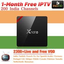 India Italia IPTV Xnano 1 mese Gratuito di IP TV Canada Arabo Abbonamento IPTV di Android TV Box Africa Turchia IPTV Indiano italiano IP TV