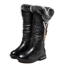 Теплые детские сапоги 2018 Новинка зимы ботинки для девочек модные плюшевые теплые зимние сапоги кролика удобные Меховые обувь для детей KS357