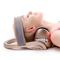 Wearable Cervical Physiotherapy Head Neck Massager Health Care Cervical therapy instrument Airbag Hot Compress Kneading Massager
