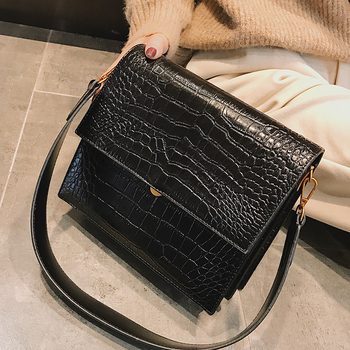 European Fashion Simple Women's Designer Handbag 2018 New Quality PU Leather Women Tote bag Alligator Shoulder Crossbody Bags 1