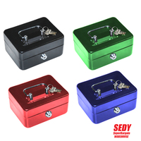 Free Shipping New Arrival Stainless Steel Petty Cash Money Box Security Lock Lockable High Quality