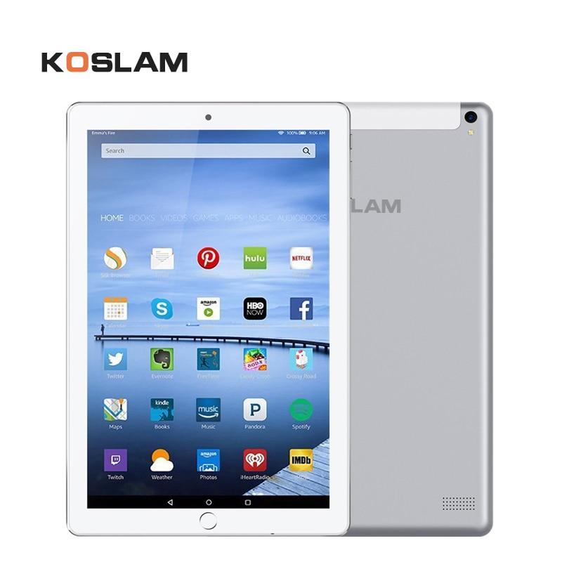 KOSLAM New 10.1 Inch Android Tablets PC Tab Pad IPS Screen Quad Core 1GB RAM 16GB ROM Dual SIM Card 3G Phone Call 10.1